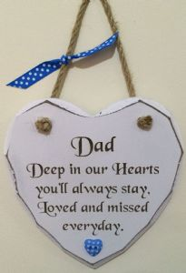 Dad Loved and Missed Hanging Heart